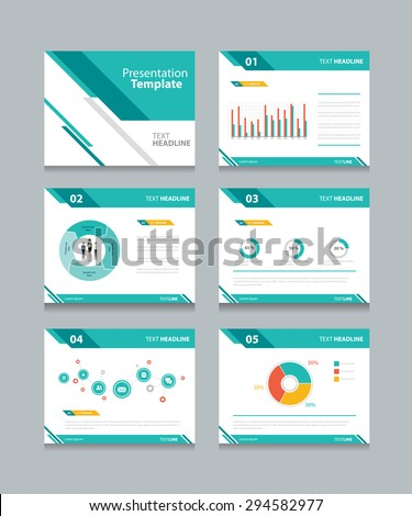 Business Presentation Template Setpowerpoint Template Design Stock