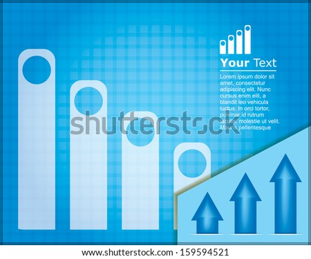 Business presentation template with design element and copy space area - stock vector