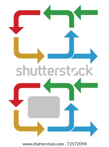 Business process flow diagram - stock vector