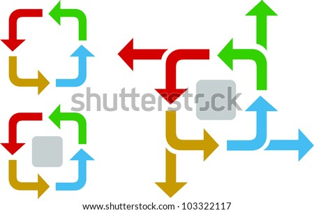 business process flow diagram arrows iterative stock. Black Bedroom Furniture Sets. Home Design Ideas