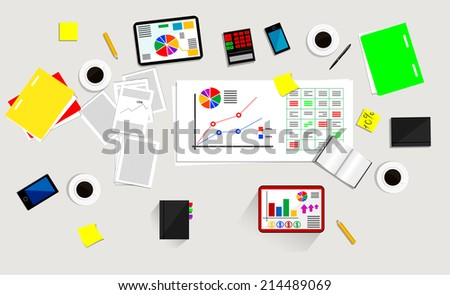 Business process image. Vector eps 10 - stock vector