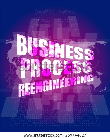 Business process reengineering interface hi technology stock vector business process reengineering interface hi technology business template charts graphs presentation accmission Gallery