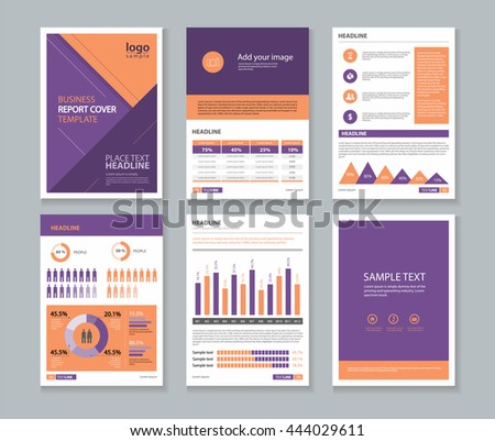 Yellow Page Business Company Profile Annual Stock Vector