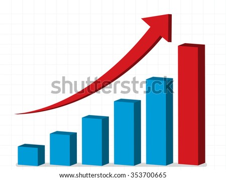 business profit - graph up, vector, eps10 - stock vector