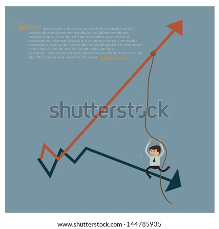 Business progress, vector illustration