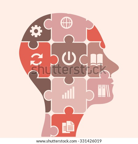 business project in mind. idea, income settings update. business head - stock vector