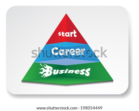 Business pyramid web element design.Vector