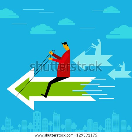 business race concept - stock vector