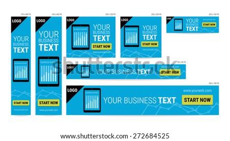 Business report banner website - stock vector