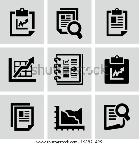 Business report document icon - stock vector