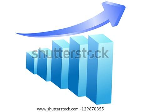 business rising bar - stock vector