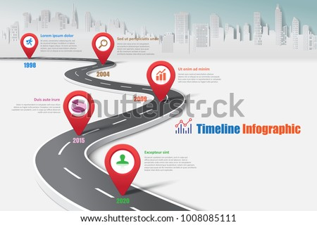 Business road map timeline infographic city em vetor stock business road map timeline infographic city expressway designed for abstract background template milestone element modern diagram ccuart Choice Image