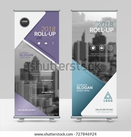 Business Roll Design Template Xstand Vertical Stock Vector 727846924 ...