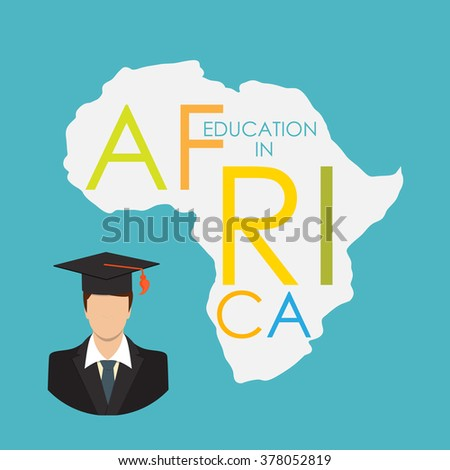 Business School Education in Africa Concept Vector Illustration EPS10 - stock vector