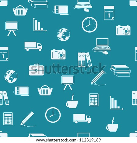 business seamless pattern - stock vector