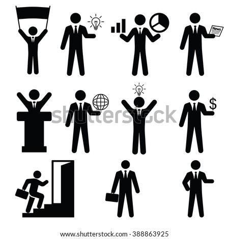 Business set Icon Vector Illustration on the white background.