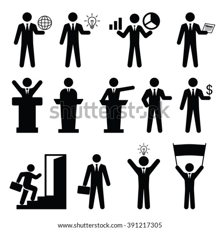 Business set Icon Vector Illustration on the white background. - stock vector