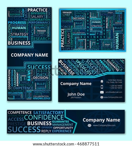 Business set business card banner invitation stock vector 468877511 business set of business card banner and invitation card with stylish business words design in reheart Image collections