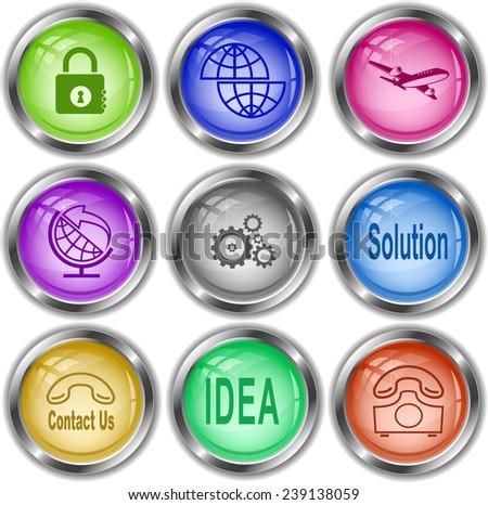 Business set. Vector internet buttons. - stock vector