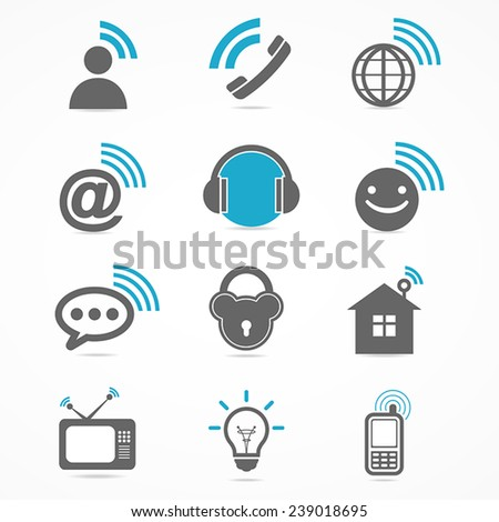 Business signal collection icon  - stock vector