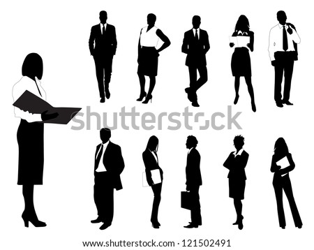Business silhouette - stock vector