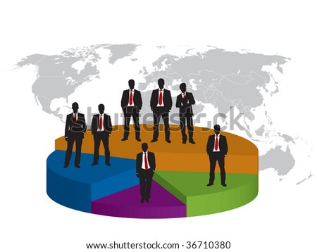 business silhouette and graphic finance background write