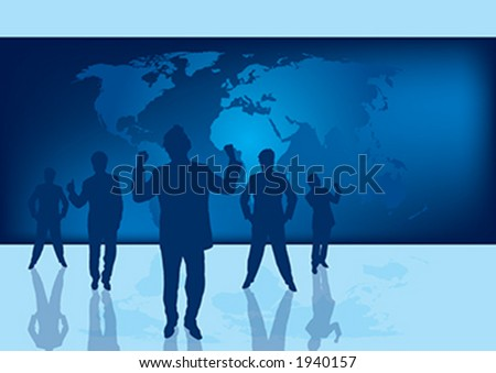Business silhouettes representing success