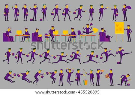 Business Solution. Business concept illustration men vector art