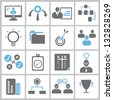 business solution, business management concept icons set, vector - stock photo