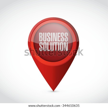 Business Solution pointer sign concept illustration design graphic - stock vector