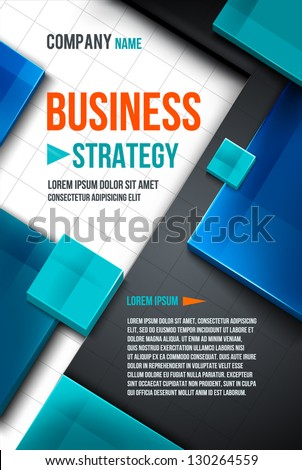 Business square background. Vector template - stock vector