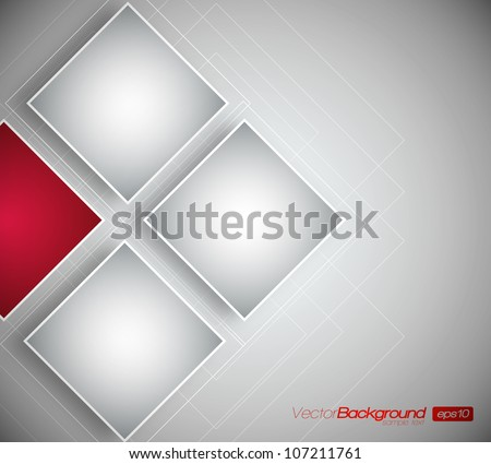 Business Squares Background - Vector Design Concept - stock vector