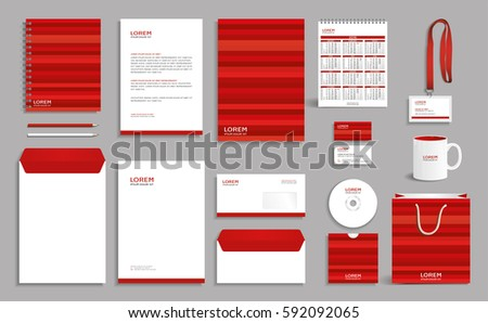 Business Stationery Set Template Corporate Identity Stock Vector ...