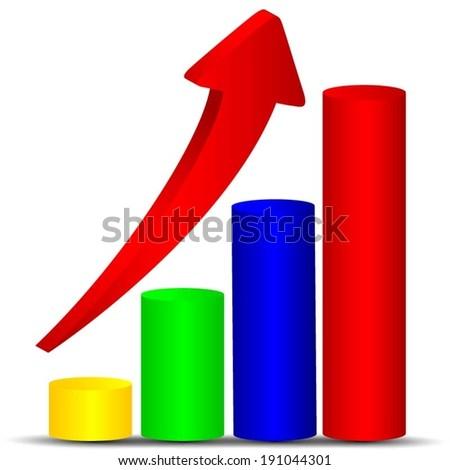 Business statistics - stock vector