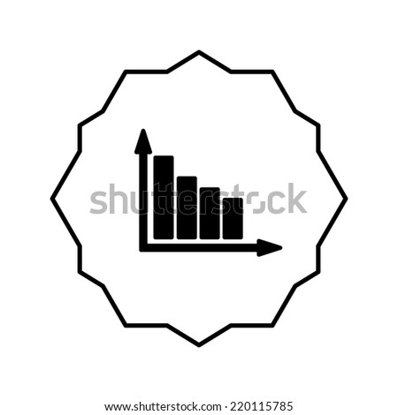 business statistics graph icon vector