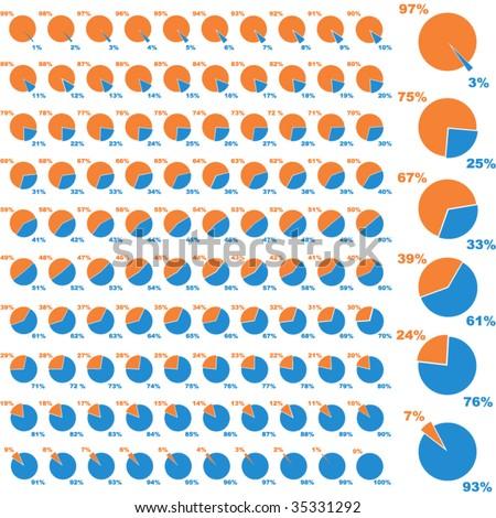 Business statistics vector - stock vector