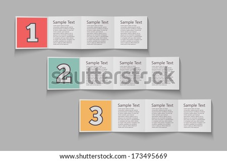 Business Step by Step. vector template or web design, web elements, infographics, banners, advertising, applications - stock vector
