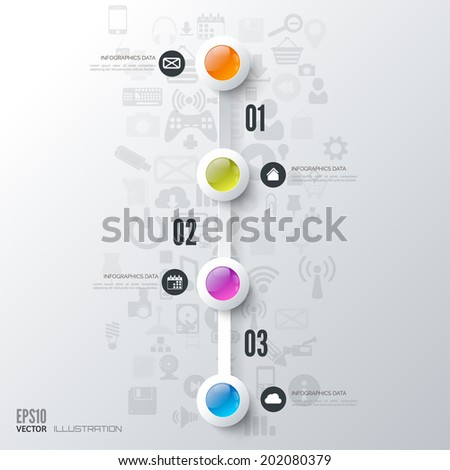 Business step infographic. Timeline background. - stock vector