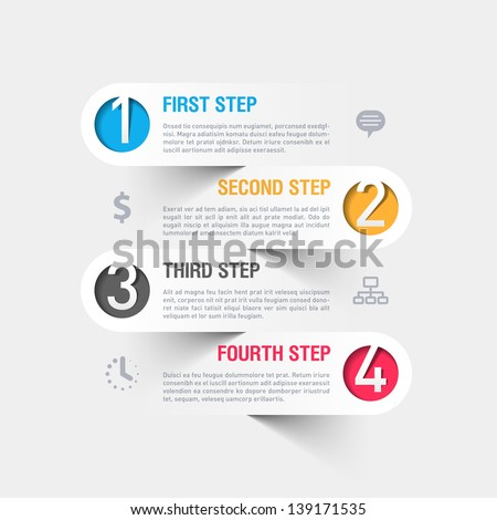 Business steps infographics template. Vector. - stock vector