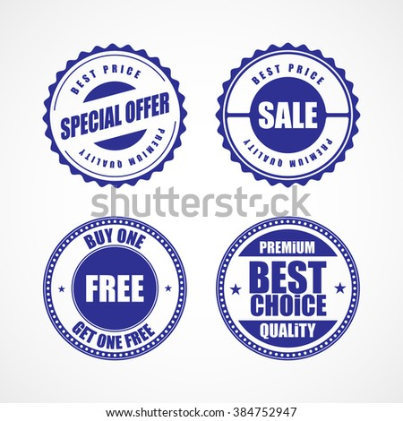 Business stickers and tags vector illustration