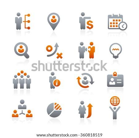Business Strategies // Graphite Series - stock vector