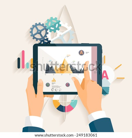 Business strategy. Flat design. - stock vector