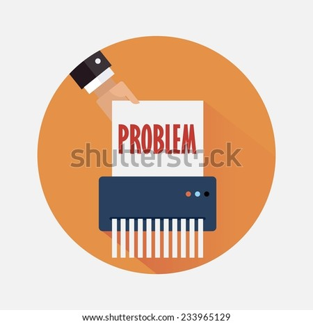 Business strategy for problem elimination  - stock vector