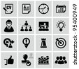 Business strategy icons set. - stock photo