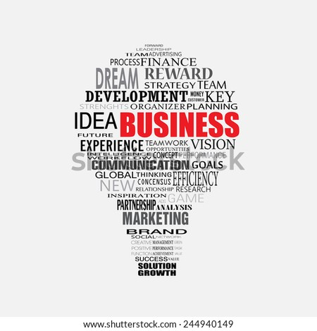 business strategy light bulb vector - stock vector