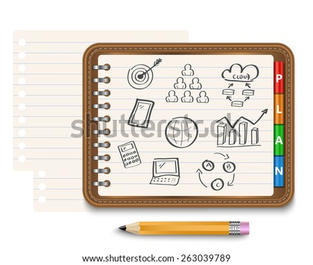 Business strategy planning as a concept - stock vector