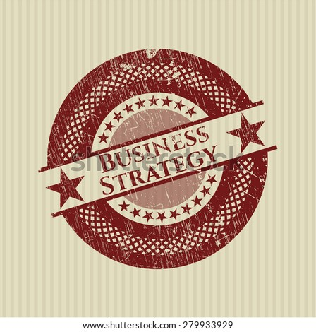 Business Strategy red rubber grunge stamp