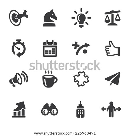 Business strategy Silhouette icons - stock vector