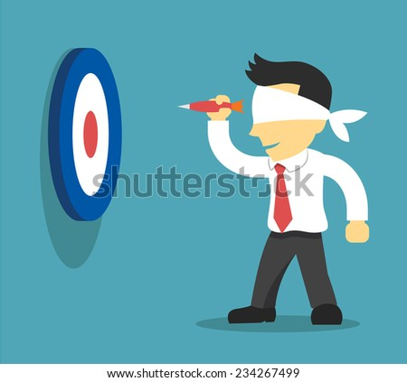 Business strategy. Vector flat illustration - stock vector