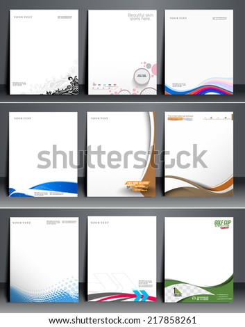 Business Style Corporate Identity Leterhead Template. - stock vector